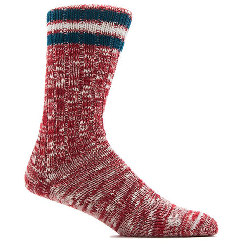 ANONYMOUS ISM 3 LINE SUB CREW SOCK / RED - 1