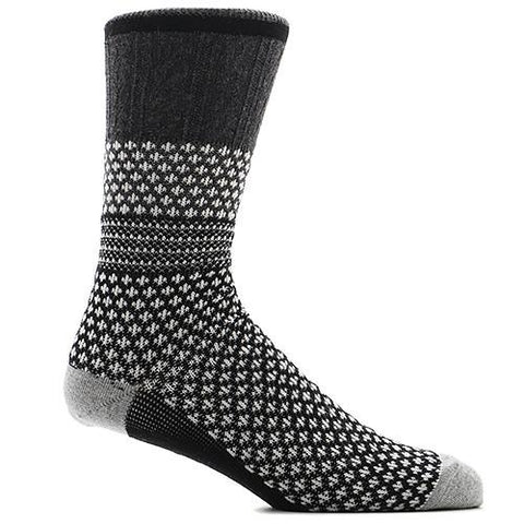 ANONYMOUS ISM CHESNUTT JQ CREW SOCK BLACK / CHARCOAL - 1