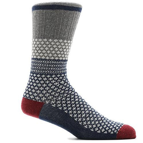 ANONYMOUS ISM CHESNUTT JQ CREW SOCK NAVY / GREY - 1