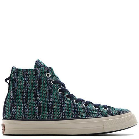 CONVERSE FIRST STRING X MISSONI CHUCK TAYLOR ALL STAR '70 HI / GREEN - 1