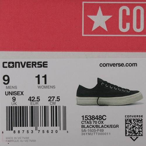 CONVERSE CHUCK TAYLOR ALL STAR '70 LEATHER SUEDE OX / BLACK - 5