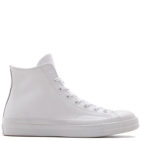 style code 155453C. CONVERSE CHUCK TAYLOR ALL STAR 70 MONO LEATHER HI / WHITE