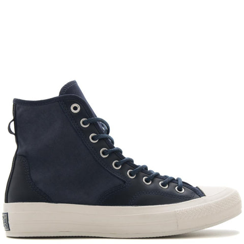Style code 157486C. CONVERSE CTAS '70 LEATHER NYLON HIKER HI / ATHLETIC NAVY