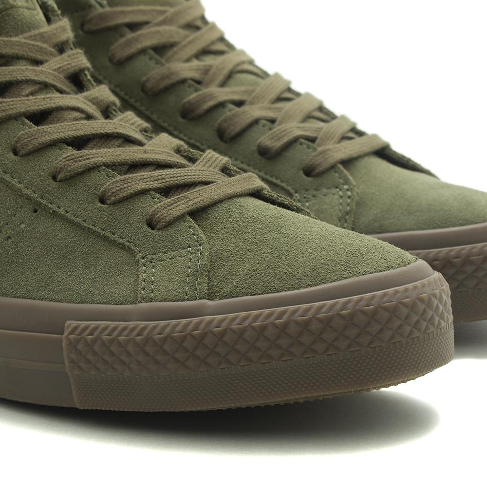 converse one star suede green