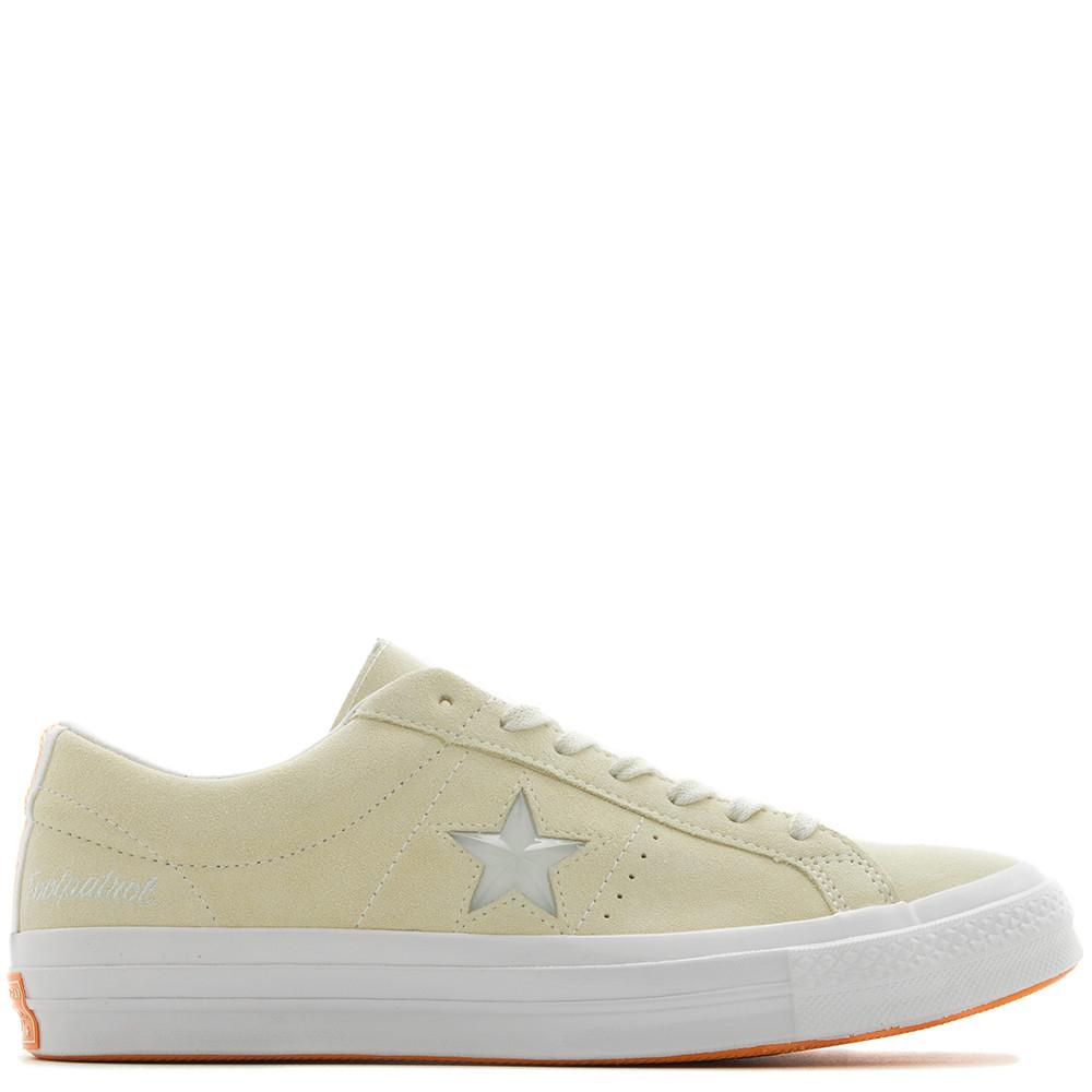 style code 158895C. CONVERSE GOLD STAR X FOOTPATROL ONE STAR / VANILLA CUSTARD