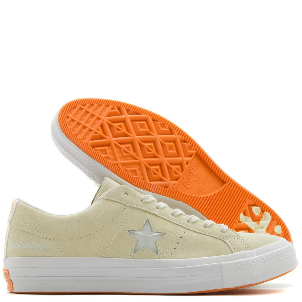 CONVERSE GOLD STAR X FOOTPATROL ONE STAR / VANILLA CUSTARD