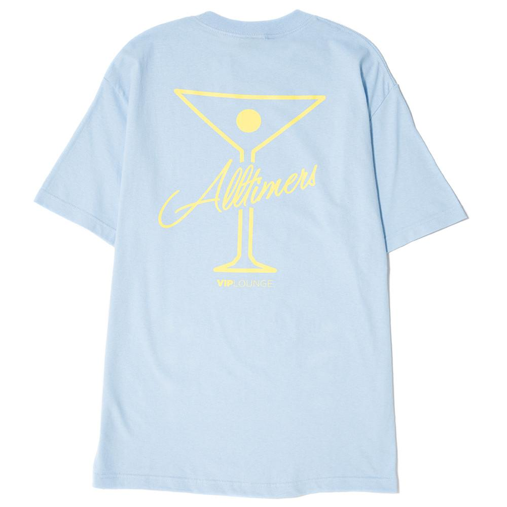 style code 17SP01AP0201BLU. ALLTIMERS TIN LOGO T-SHIRT / LIGHT BLUE