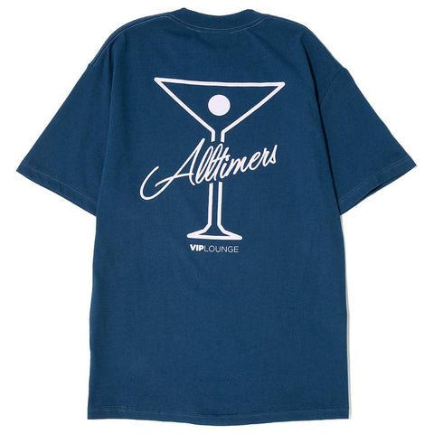 style code 17SP01AP0201MID. ALLTIMERS TIN LOGO T-SHIRT / MIDNIGHT