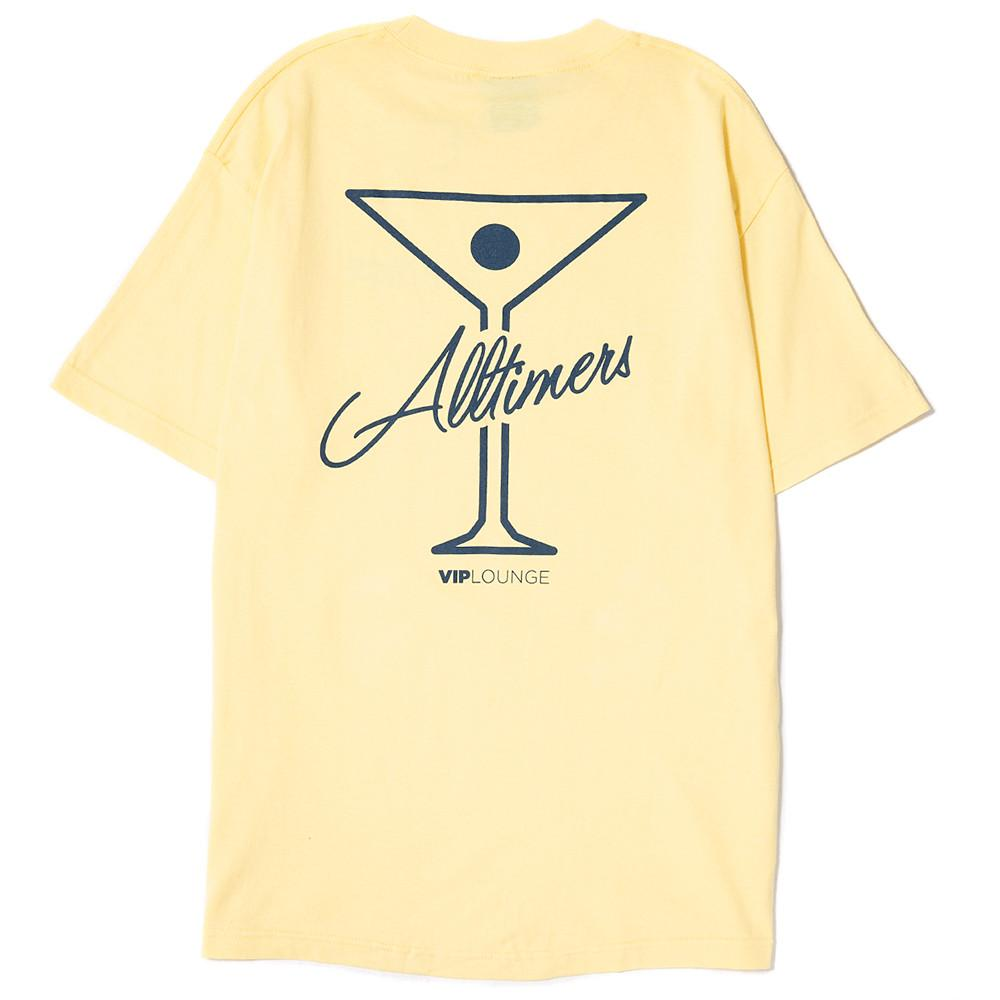style code 17SP01AP0201YLW. ALLTIMERS TIN LOGO T-SHIRT / YELLOW