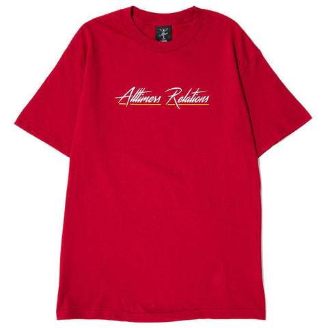 ALLTIMERS RELATIONS T-SHIRT / MAROON