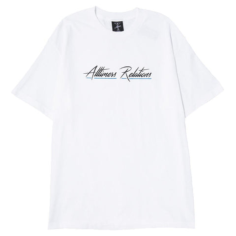 ALLTIMERS RELATIONS T-SHIRT / WHITE