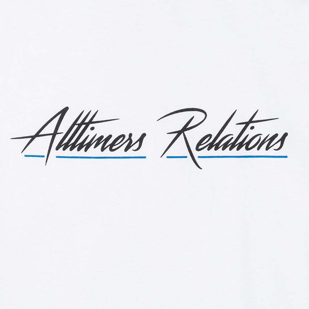 style code 17SP01AP0205WHT. ALLTIMERS RELATIONS T-SHIRT / WHITE