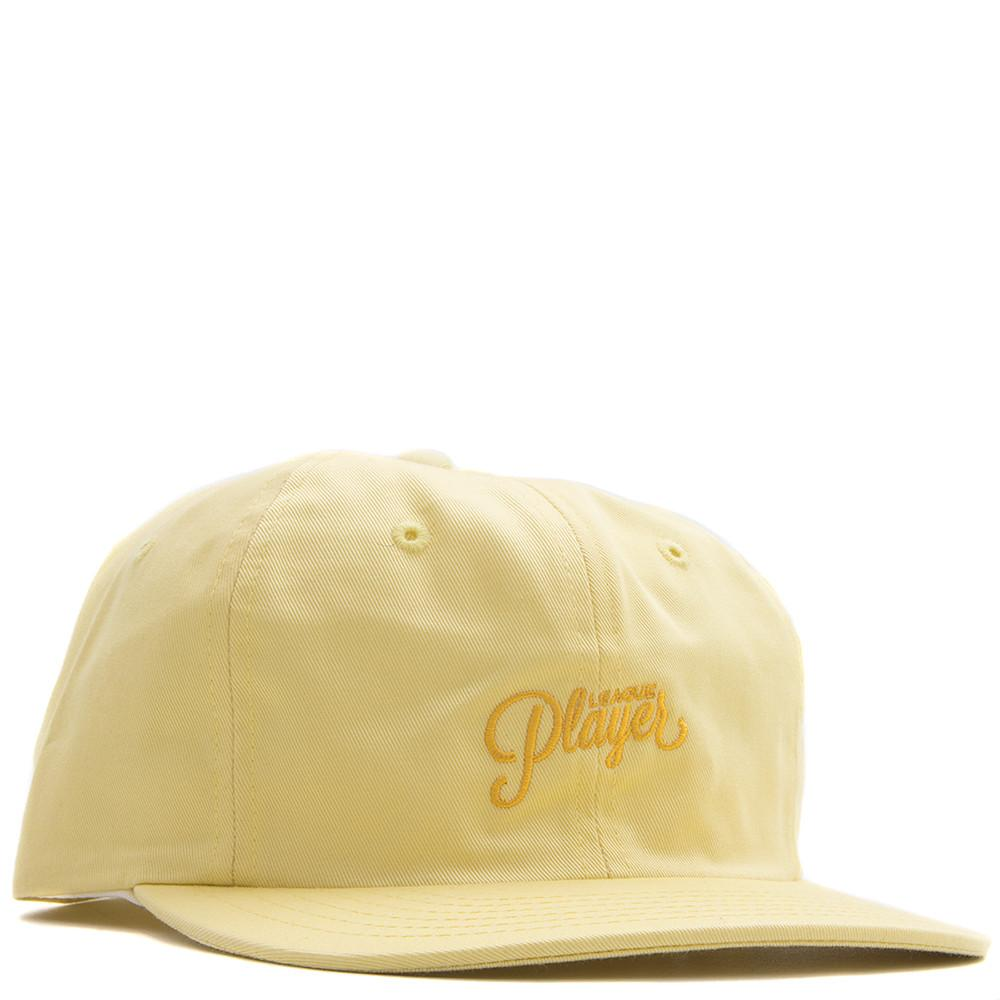 style code 17SP01AP1102YLW. ALLTIMERS LEAGUE PLAYER HAT / YELLOW
