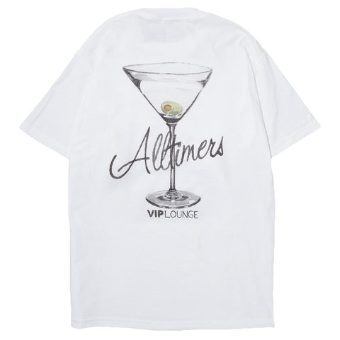 ALLTIMERS WATERCOLOR LOGO T-SHIRT / WHITE