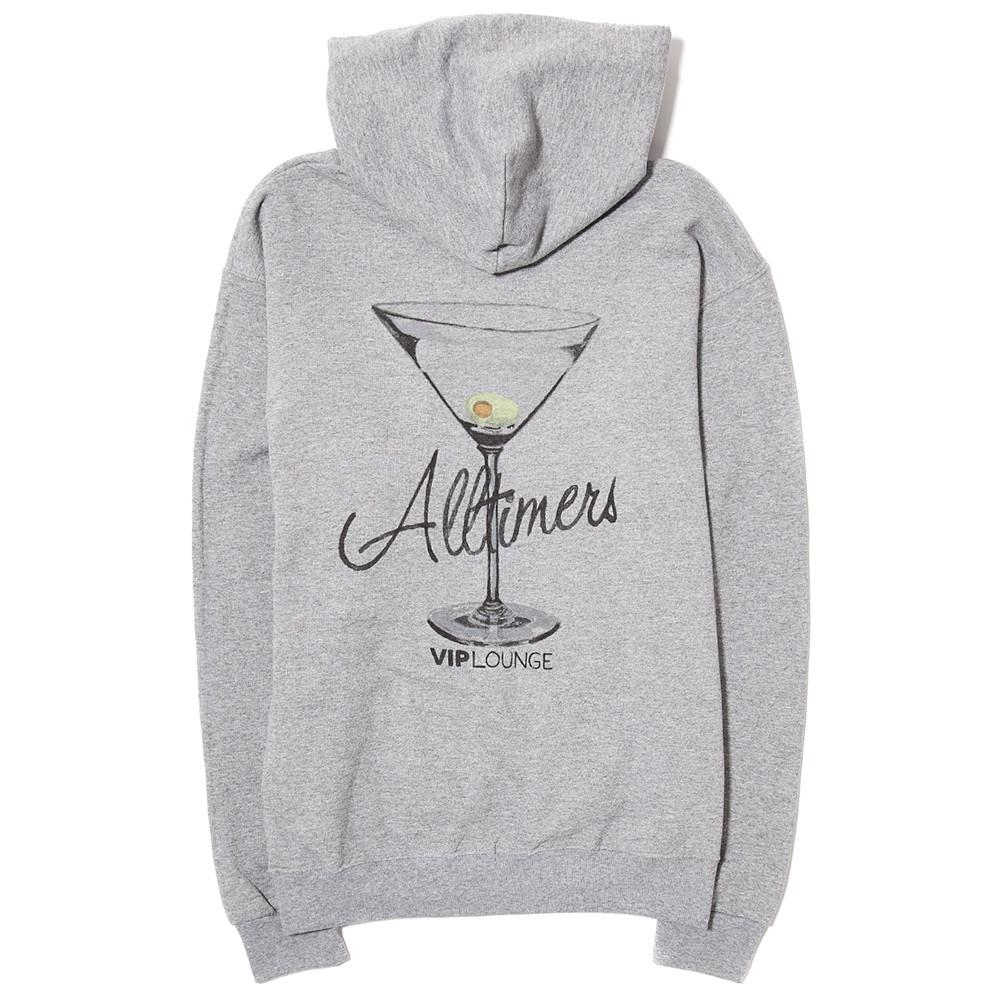 style code 17SP02AP0401GRY. ALLTIMERS WATERCOLOR LOGO HOODY / GREY