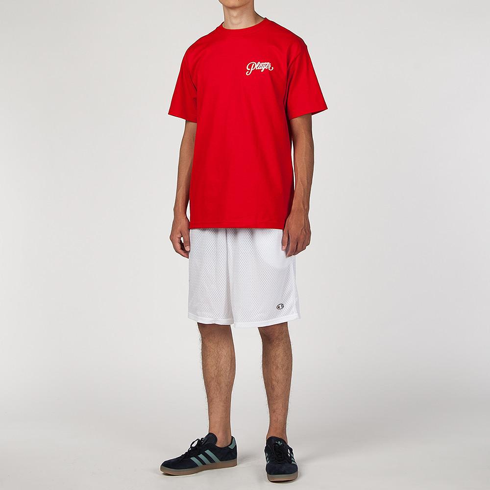 style code 17SU01AP0201RDW. ALLTIMERS LEAGUE PLAYER T-SHIRT RED / WHITE