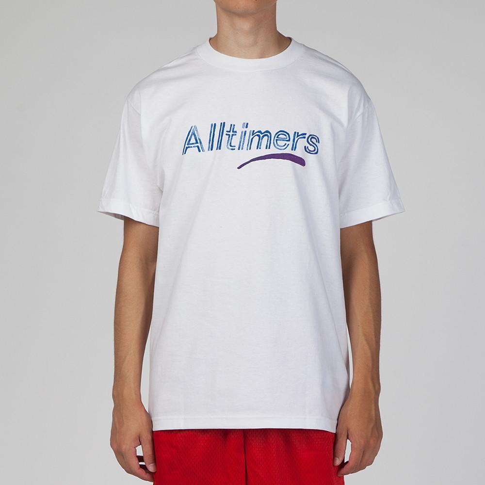 style code 17SU01AP0203WHT. ALLTIMERS ESTATE WATER COLOR T-SHIRT / WHITE
