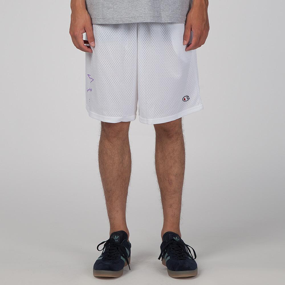 style code 17SU01AP0801WHT. ALLTIMERS BALL FOREVER SHORTS / WHITE