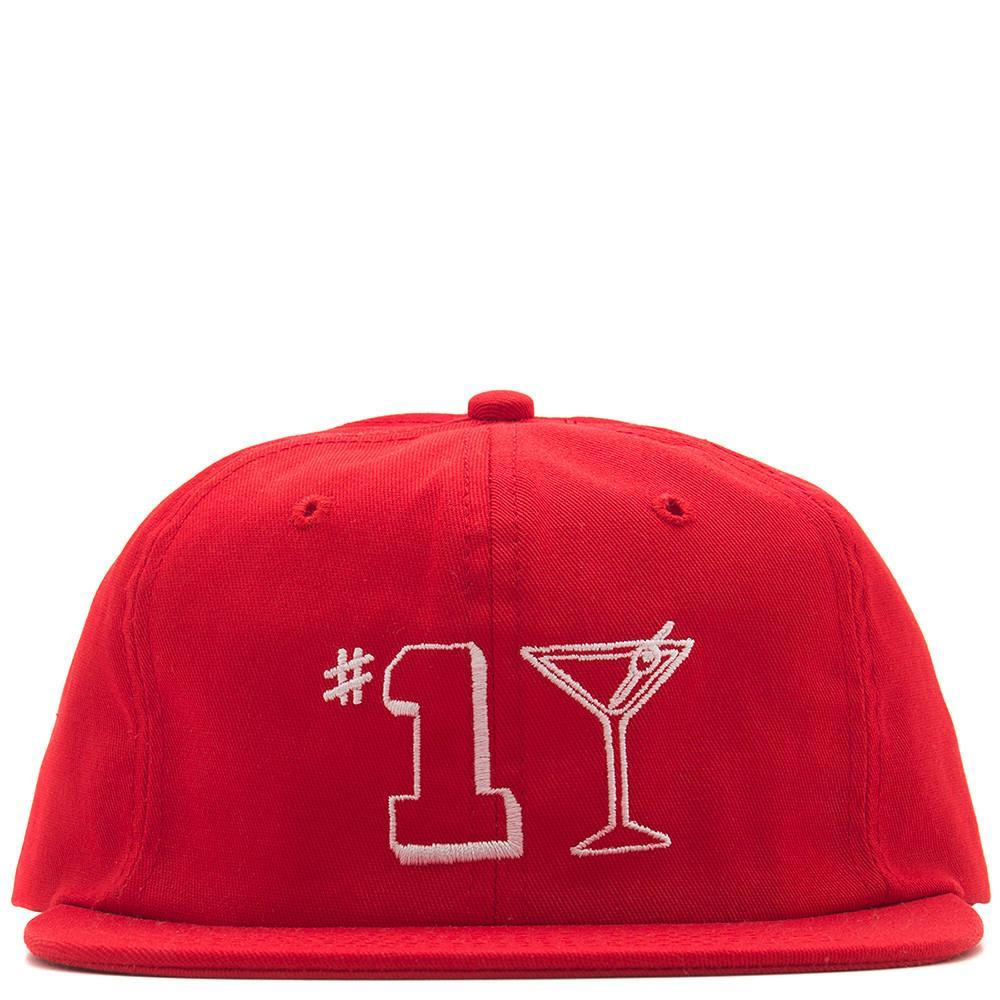 style code 17SU01AP1104RED. ALLTIMERS #1 TINI HAT / RED