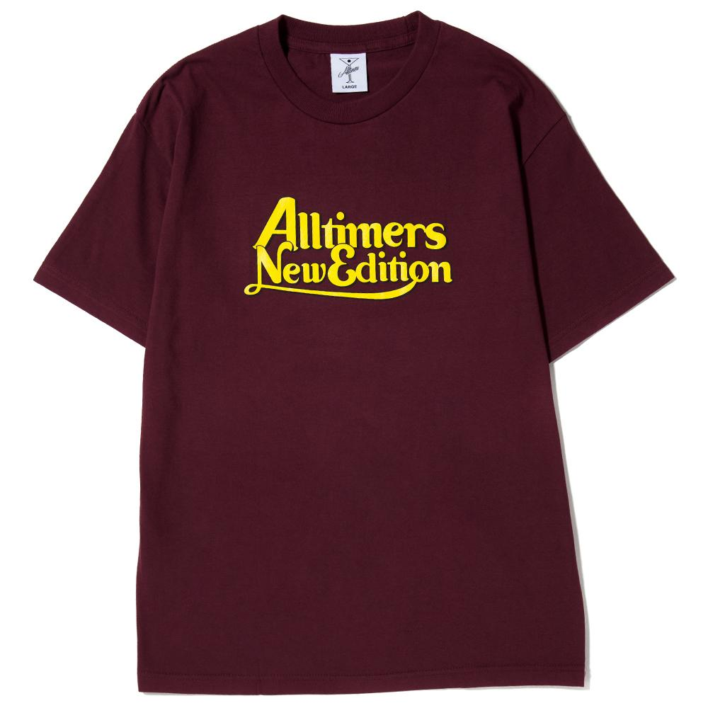 ALLTIMERS NEW EDITION T-SHIRT / BURGUNDY