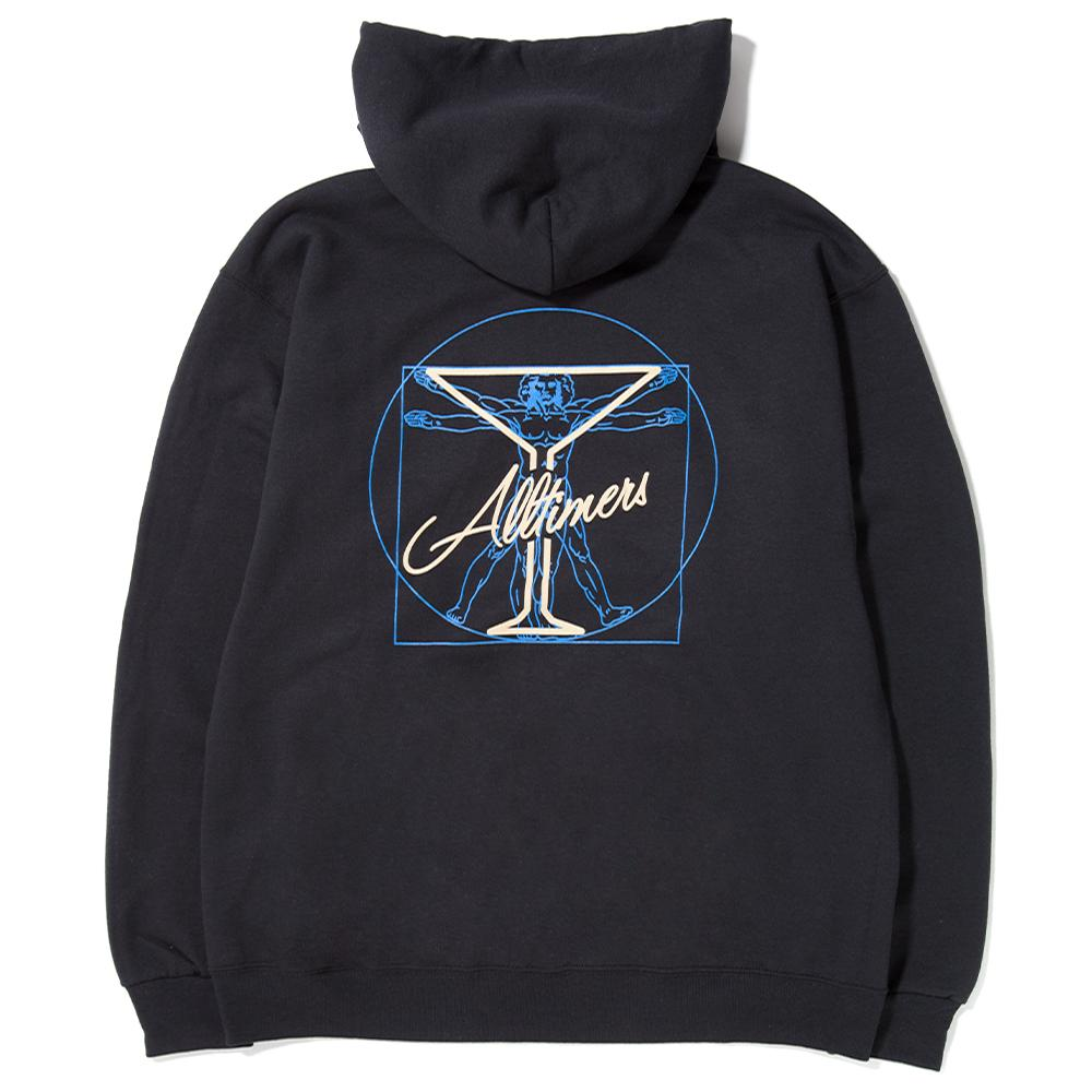 style code 17FA01AP0402BLK. ALLTIMERS BEGINNING PULLOVER HOODY / BLACK