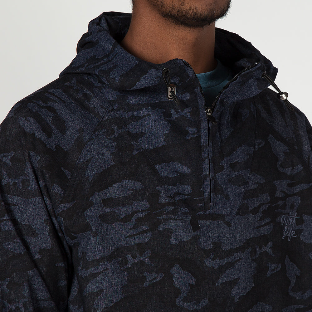 QUIET LIFE CAMO WINDY PULLOVER / NAVY