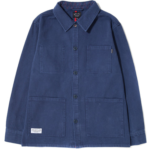 style code 17FWD11109NVY. QUIET LIFE CARLOS JACKET / NAVY