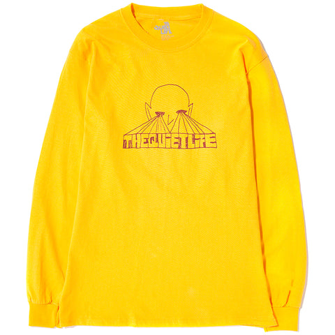 style code 17FWD11137GLD. QUIET LIFE ALIEN EYES LONG SLEEVE T-SHIRT / GOLD