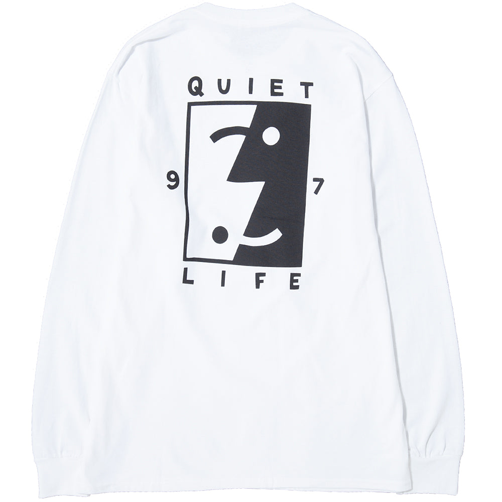 style code 17FWD11138WHT.  QUIET LIFE FINDER LONG SLEEVE T-SHIRT / WHITE