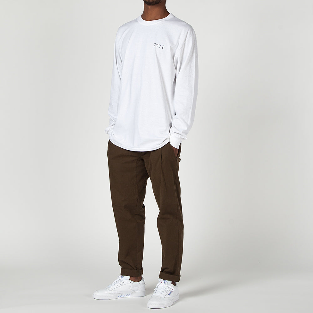 QUIET LIFE FINDER LONG SLEEVE T-SHIRT / WHITE