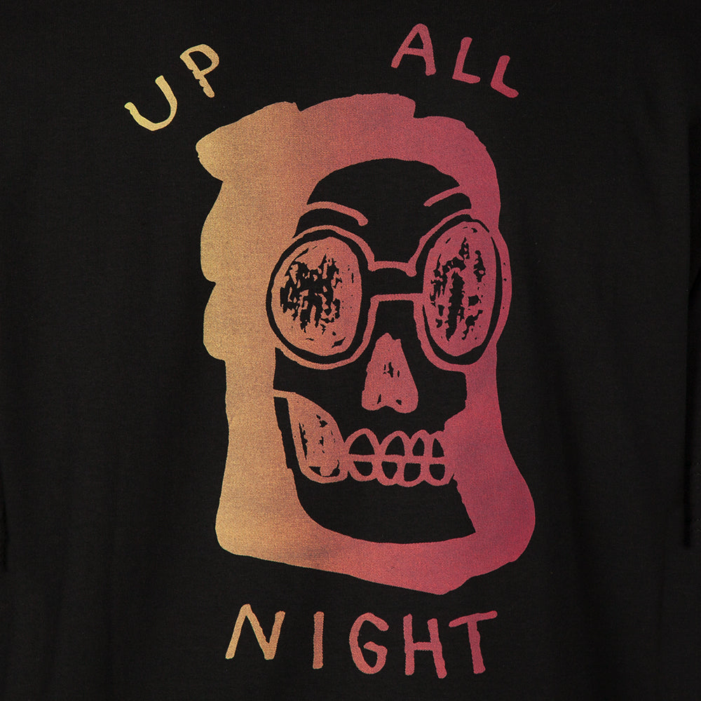 QUIET LIFE UP ALL NIGHT T-SHIRT / BLACK