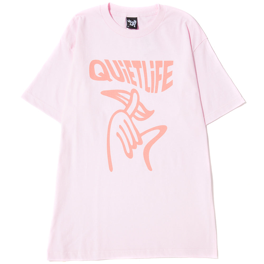 style code 17FWD11162PNK. QUIET LIFE SHHH WAVEY T-SHIRT / PINK