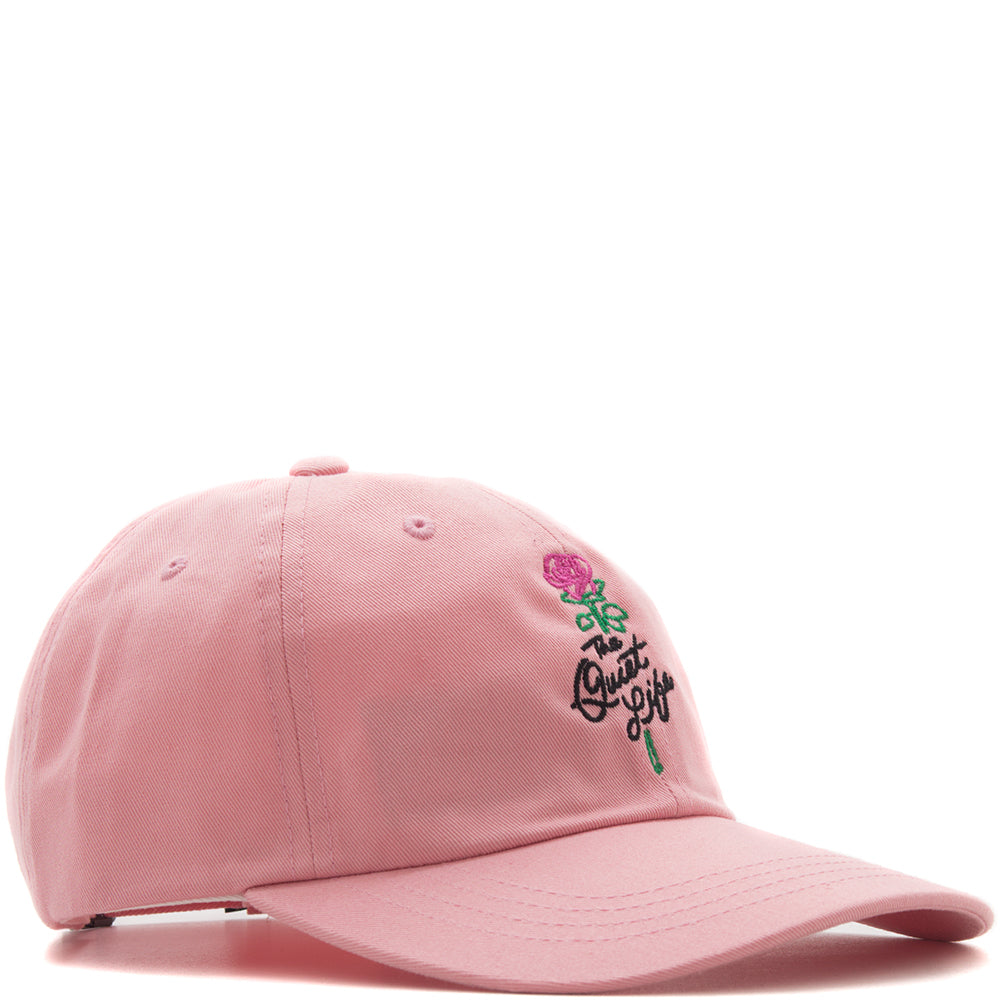 style code 17FWD22195PNK. QUIET LIFE ROSE DAD HAT / PINK