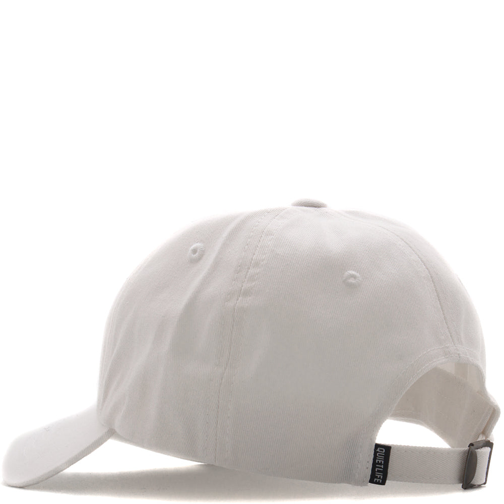 QUIET LIFE SHAKEY CAT DAD HAT / WHITE