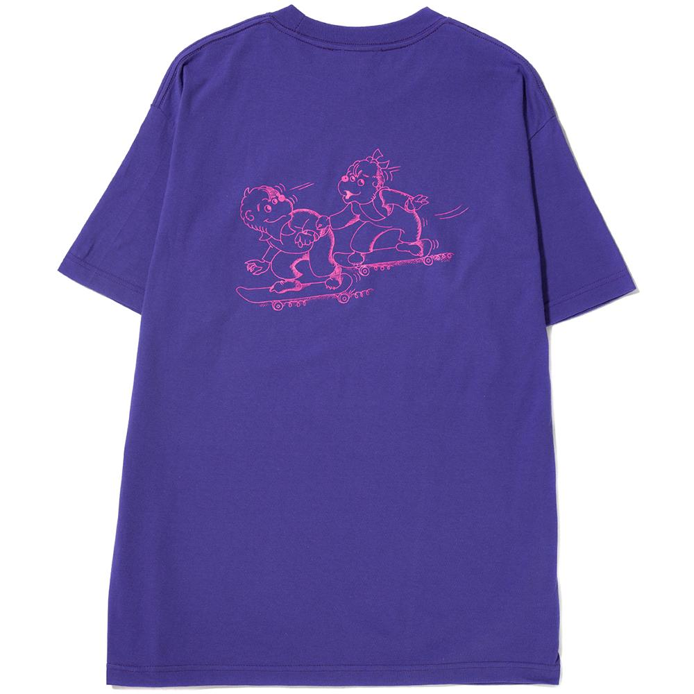 ALLTIMERS XRAY BEARS T-SHIRT / PURPLE