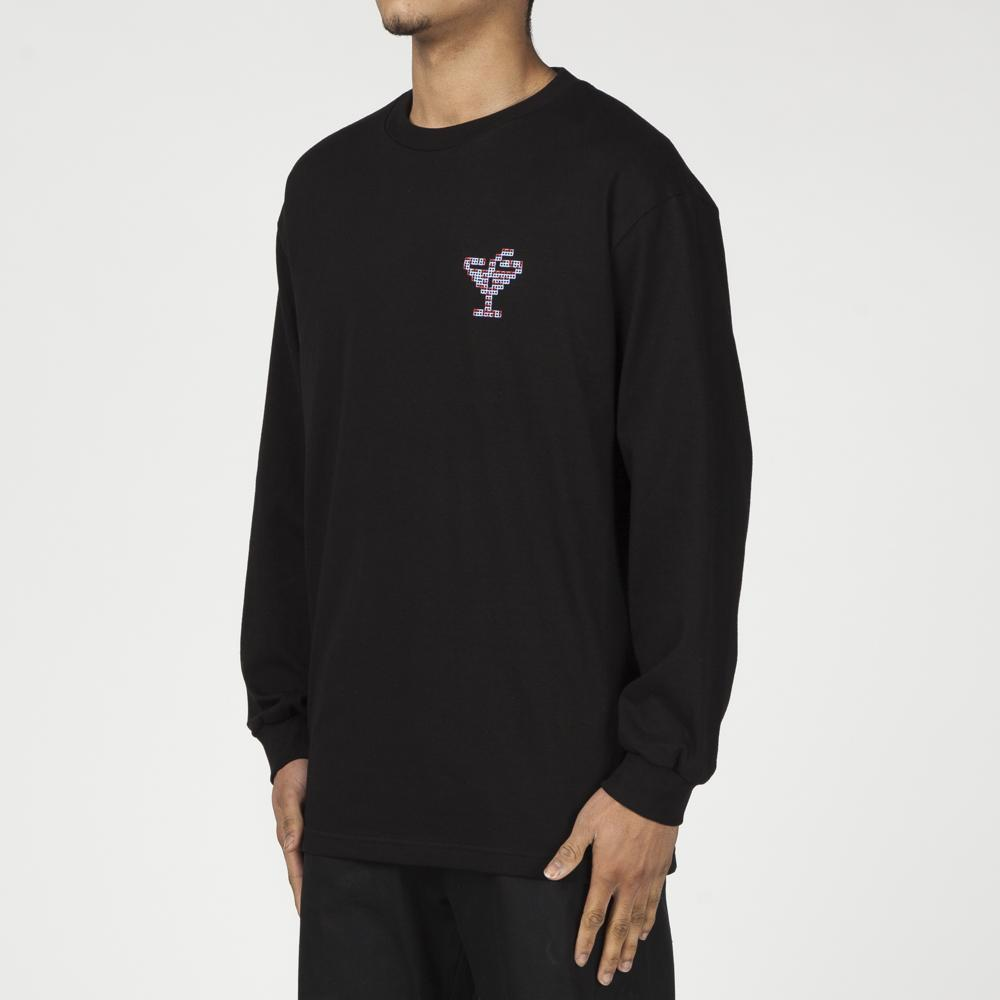 ALLTIMERS TINY DIGI LONG SLEEVE T-SHIRT / BLACK
