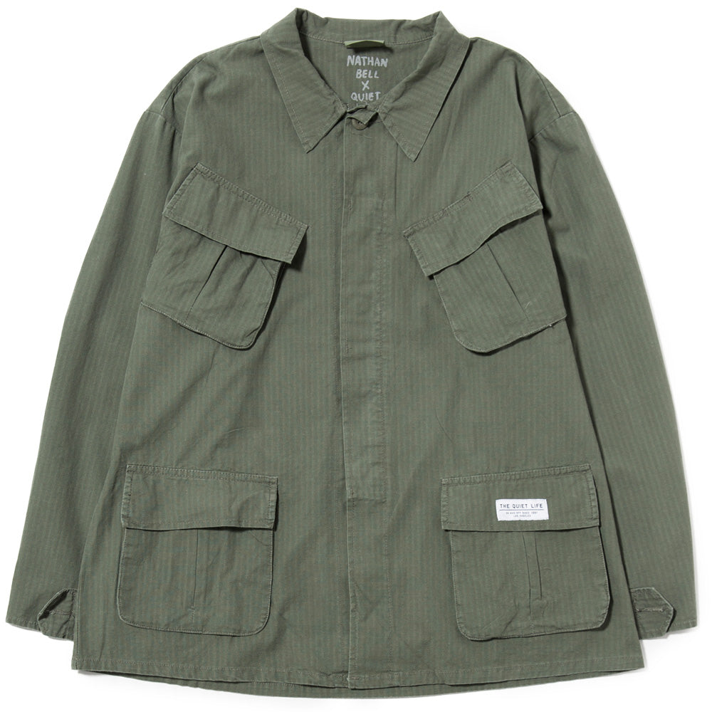 Quiet Life Snakepit Fatigue Jacket / Military Green