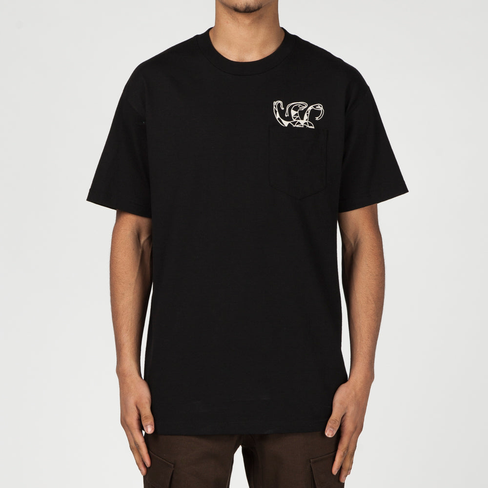Quiet Life Snakes Pocket T-Shirt / Black