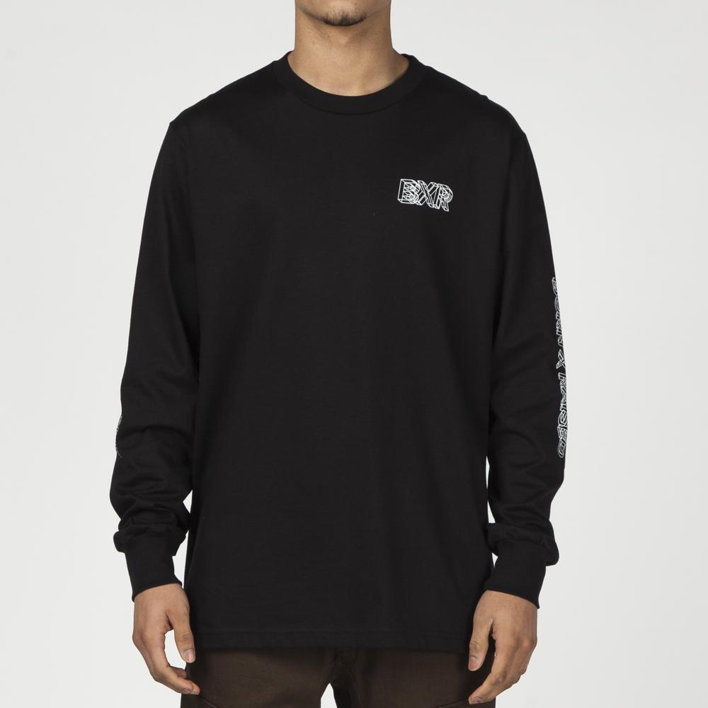 BORN X RAISED WIRE FRAME LONG SLEEVE T-SHIRT / BLACK
