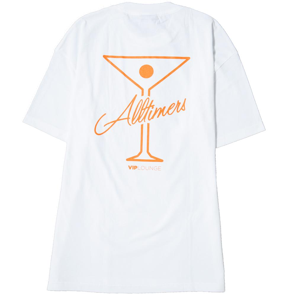 ALLTIMERS LEAGUE PLAYER T-SHIRT WHITE / SAFETY ORANGE