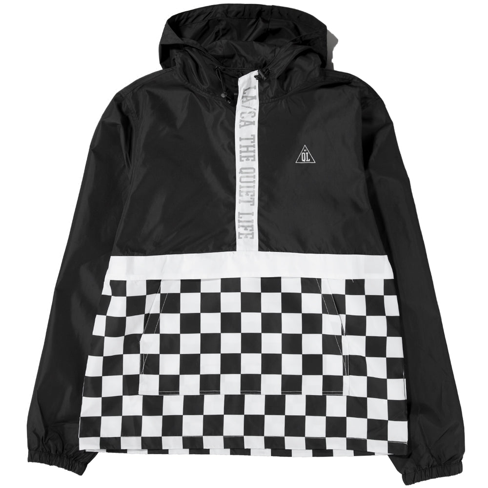 Style code 18FAD11104BLK. Quiet Life City Limits Checker Pullover / Black Checker