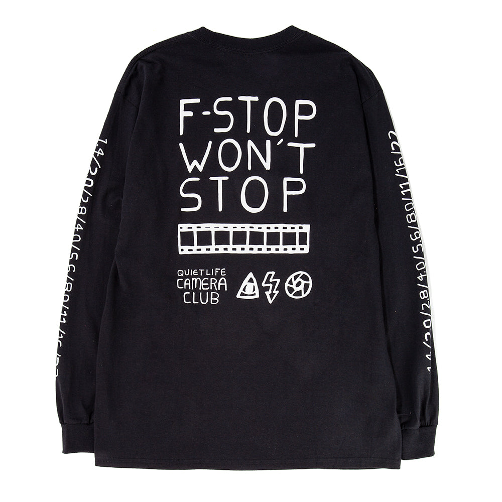 Style code 18FAD11138BLK. Quiet Life F Stop Long Sleeve T-shirt / Black