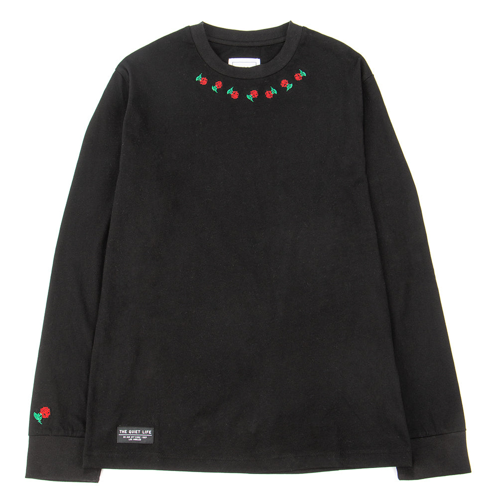 Style code 18FAD22131BLK. Quiet Life Rosary Long Sleeve T-shirt / Black
