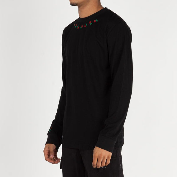 Quiet Life Rosary Long Sleeve T-shirt / Black