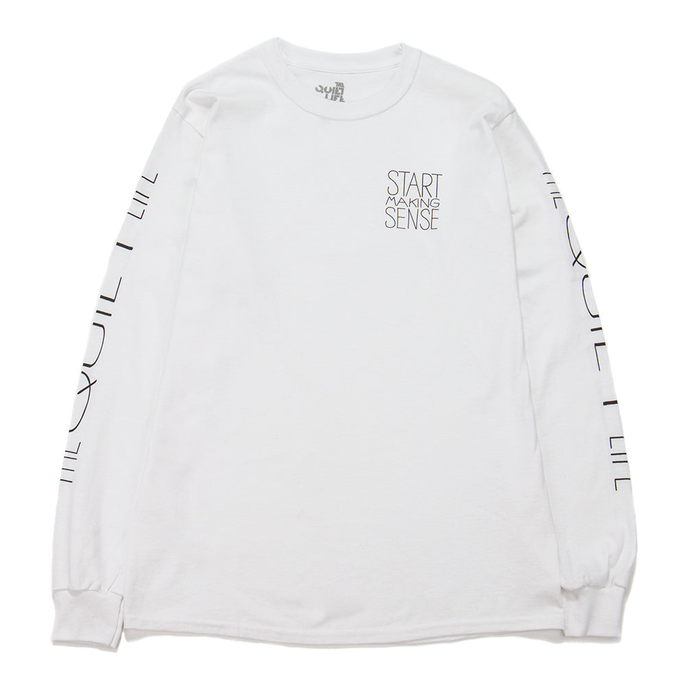 Style code 18FAD22145WHT. Quiet Life Start Making Sense Long Sleeve T-shirt / White