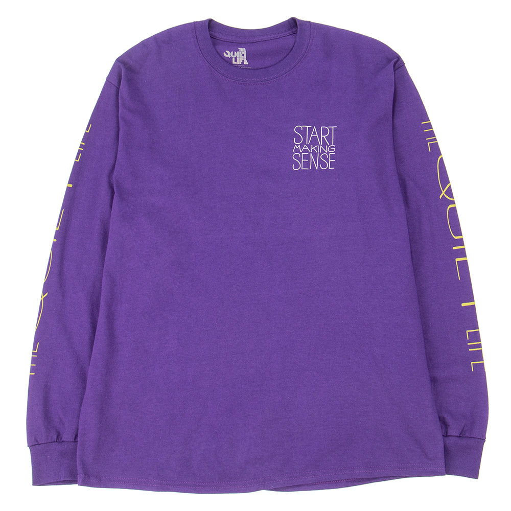 Style code 18FAD22146PUR. Quiet Life Start Making Sense Long Sleeve T-shirt / Purple
