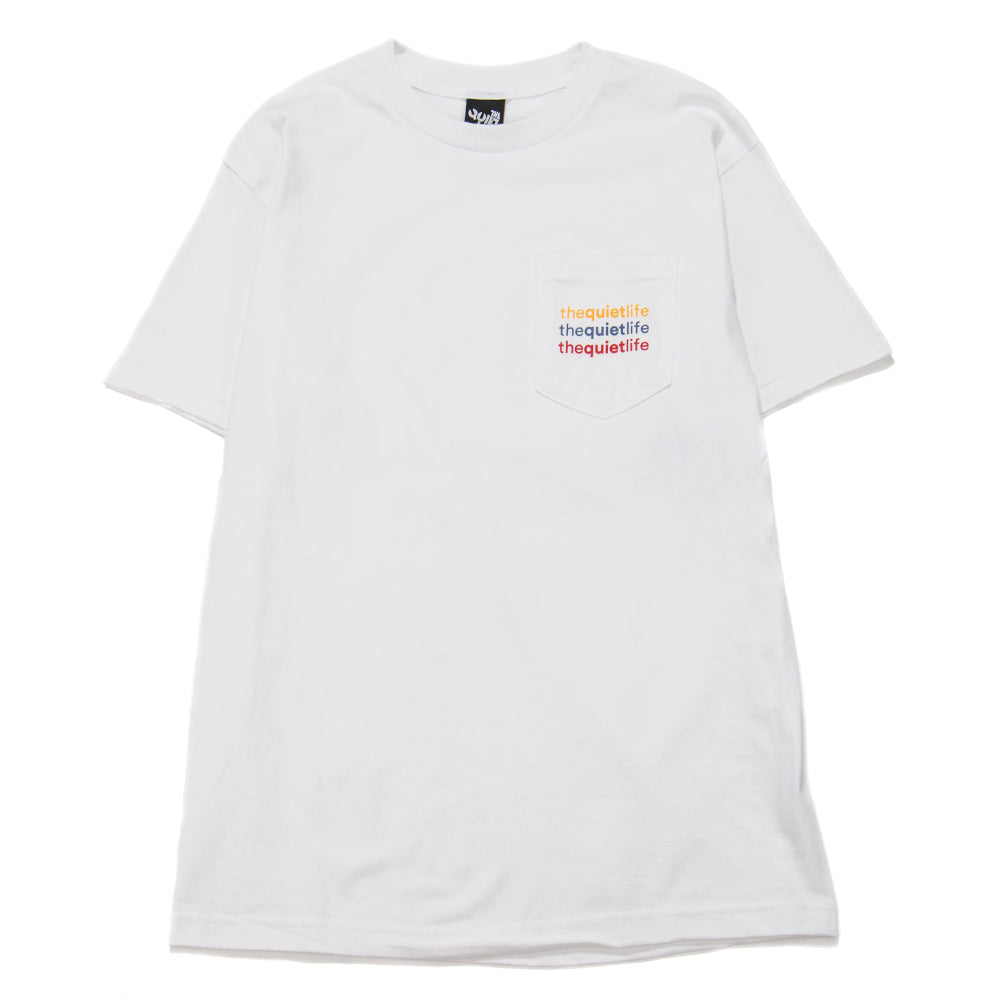 Style code 18FAD22175WHT. Quiet Life Origin Rainbow Pocket T-shirt / White