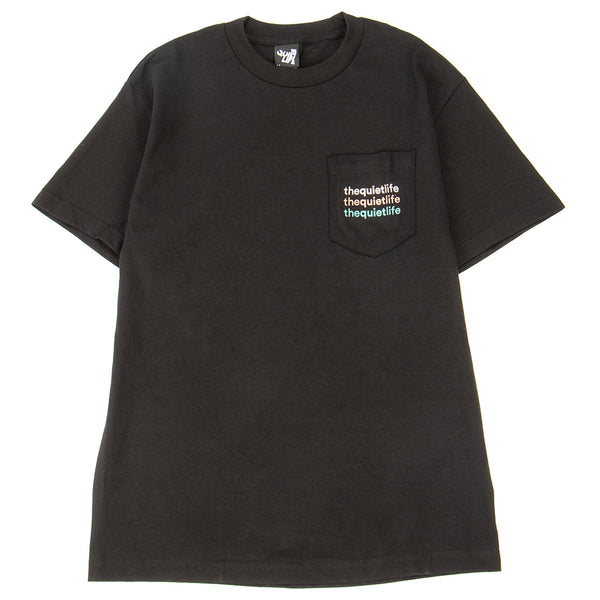 Style code 18FAD22176BLK. Quiet Life Origin Rainbow Pocket T-shirt / Black