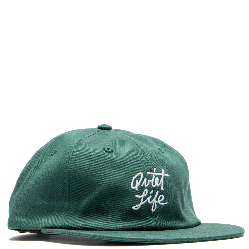 Style code 18FAD22186GRN. Quiet Life Cursive Polo Hat / Green