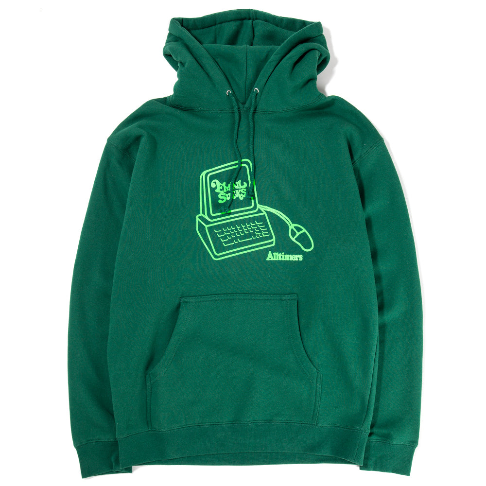 Style code 18HO01AP0401FOR. Alltimers Interweb Pullover Hoodie / Forest Green